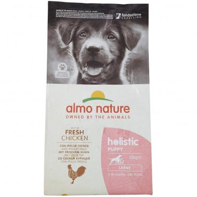 Almo nature Holistic Dog Puppy Large mangime Secco Gusto Pollo
